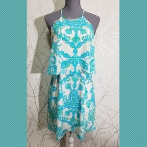 Lilly Pulitzer Whistler Tiered Strappy Silk Dress